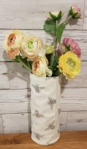 Bee Print Small Fabric Vase