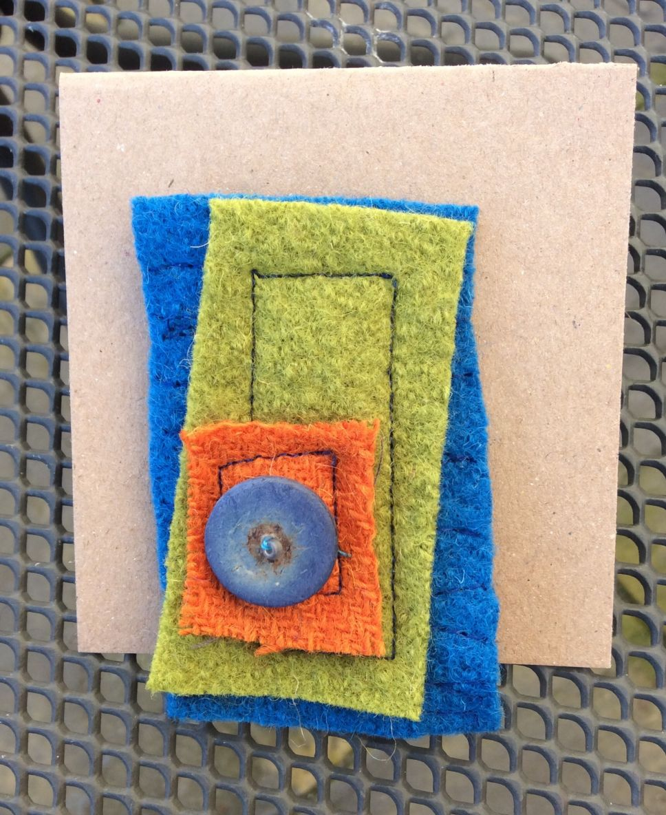Up-cycled Brooch