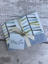 Blue Linen Fabric Vase