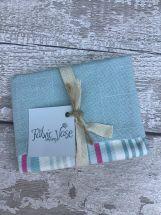 Blue and Pink Stripe Cotton Vase