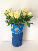 Blue and Orange Floral